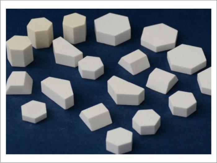 Abrasion Resistant Aluminum Oxide Ceramic Hexagonal Mosaic Tile