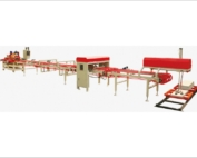 automatic tiles cutting and squaring and Chamfering Line